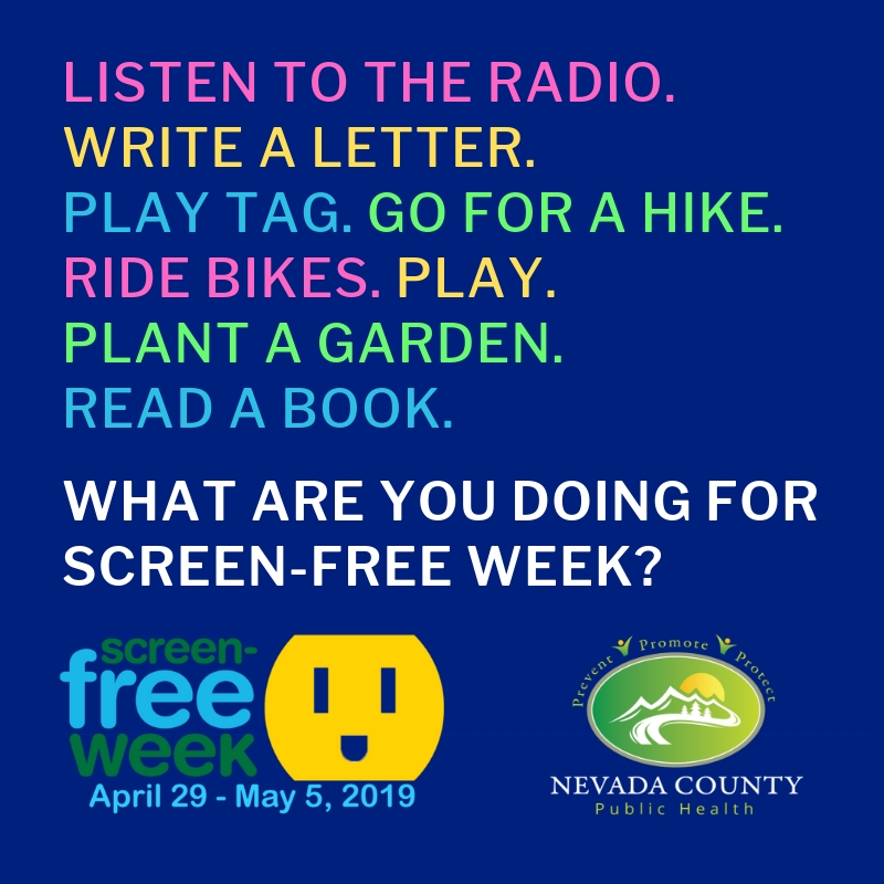 Flyer for screen-free week