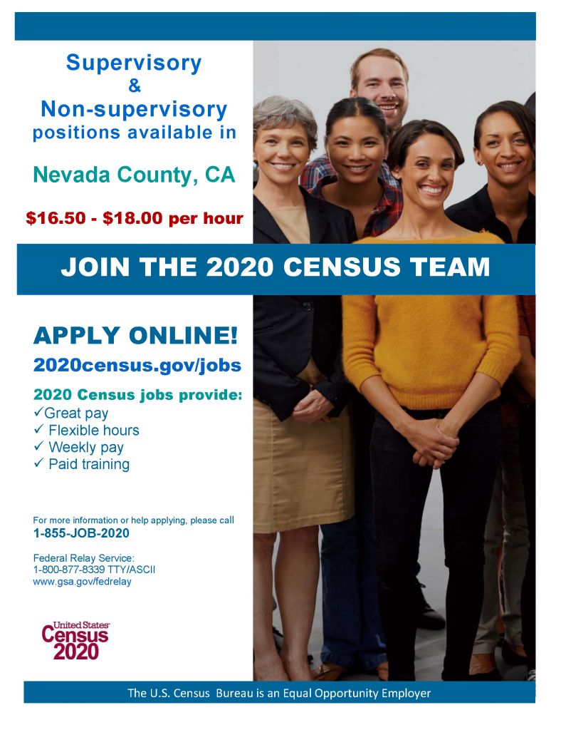 Census Jobs Nevada County