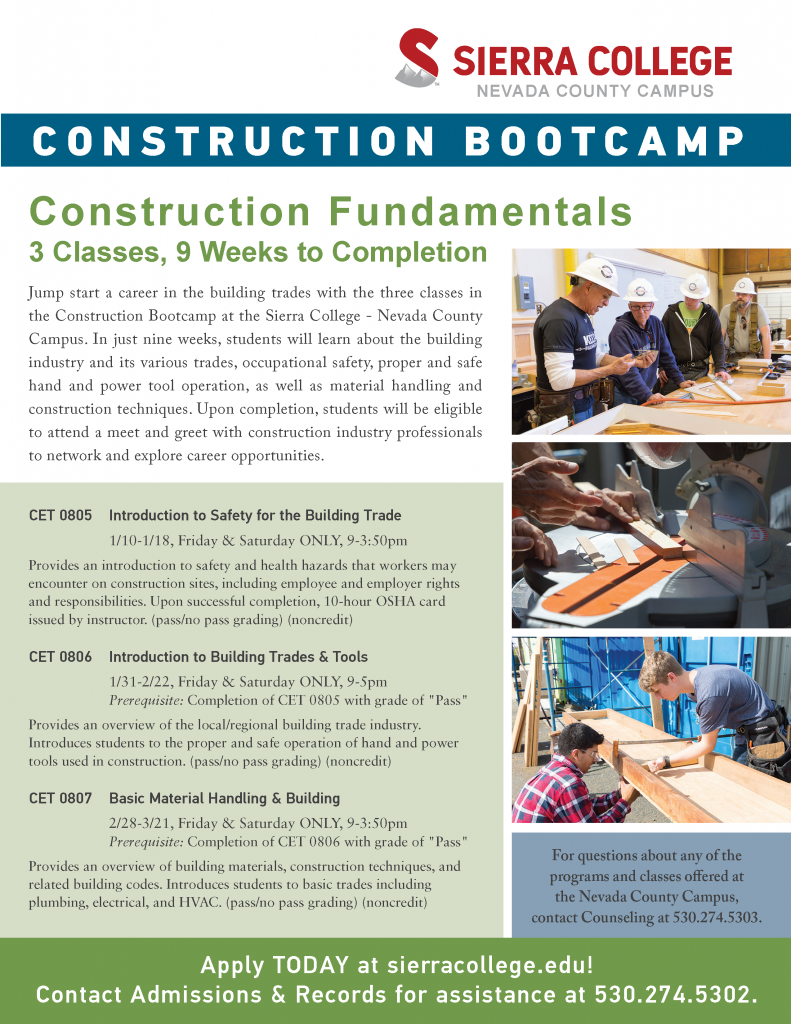 Construction Bootcamp Flyer