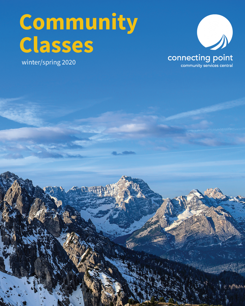 Cover of Community Classes booklet