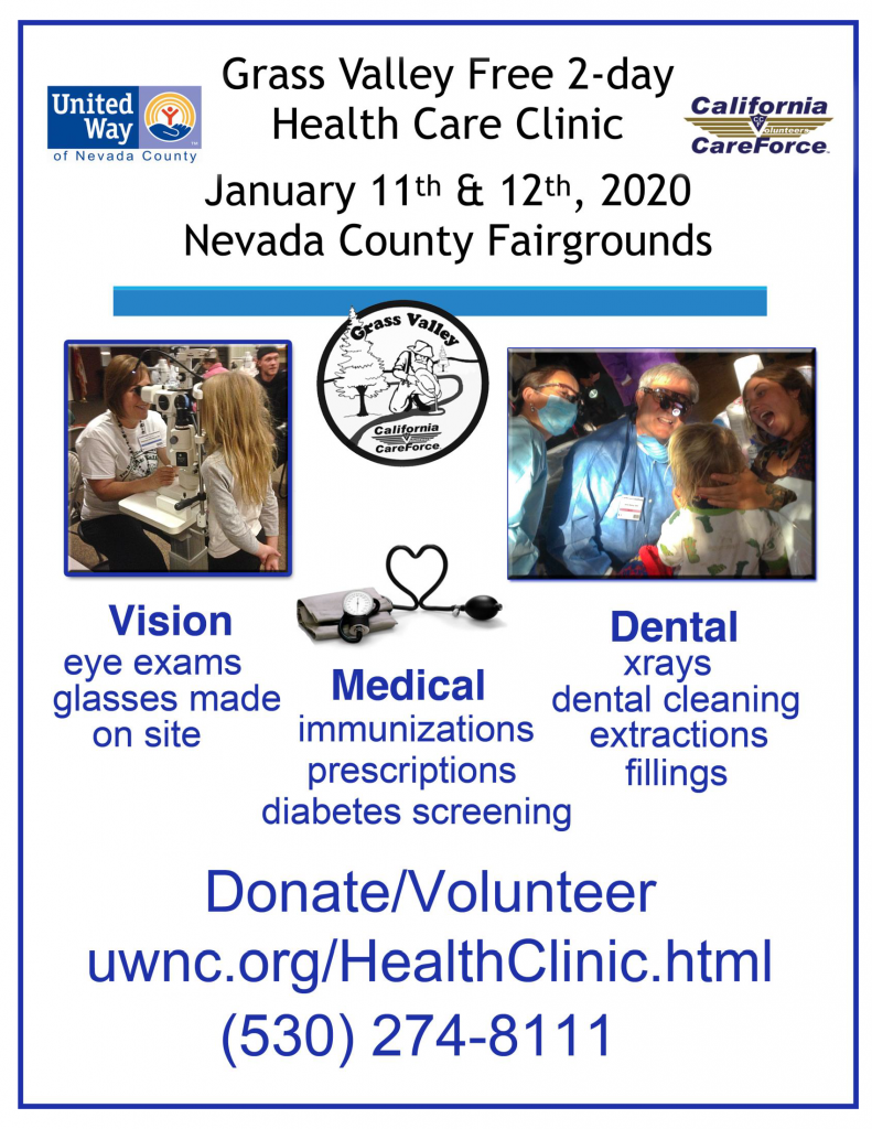 Free health clinic flyer