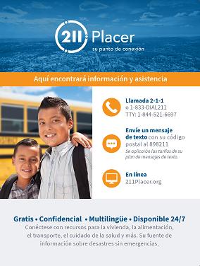 Placer County Español - Niños Poster