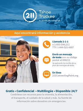 Tahoe Truckee Español - Niños Poster